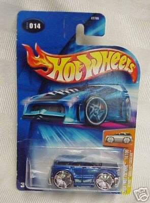 Mattel Hot Wheels 2004 First Editions Series 1 64 Scale Die Cast Metal Car   14 Of 100   Metallic Blue Sport Utility Vehicle Suv Blings Cadillac Escalade