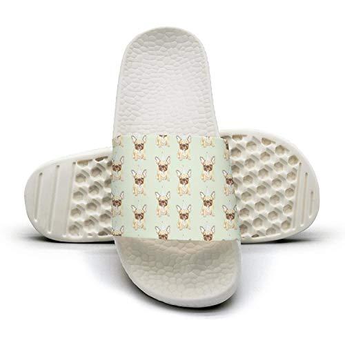 Women Girls Fat Pug Dog Slip on Beach Sandals and Anti-Slip Shower Slipper Comfort Sandals by ehoju