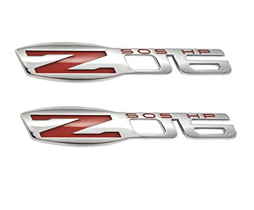 (Yoaoo 2x OEM Z06 Emblems Badges 505 Hp Fender Replacement for Corvette C6 Chrome)