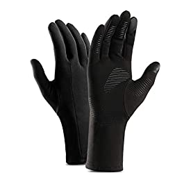 Mayxunbeauty Running Gloves,Walking Glove, Touch Screen Gloves, Cold Weather Windproof Gloves for Climbing, Cycling, Skiing, Non-Slip Silicone Gel Glove(Men & Women)