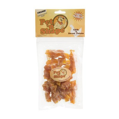 Chik 'n Dog Treat [Set of 48] Flavor: Chik 'n Sweet Potato, Quantity: 4-oz by Pet 'n Shape