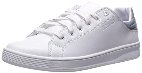 K-swiss Mens Quick Court Cmf Fashion Sneaker Bianco / Piombo