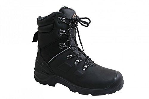 Sanita Canyon stivali di sicurezza in pelle nabuk S3, Nero - Nero, 41 EU