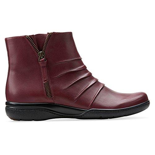 Clarks Kvinna Kearns Rodna Vinrött Läder Boot
