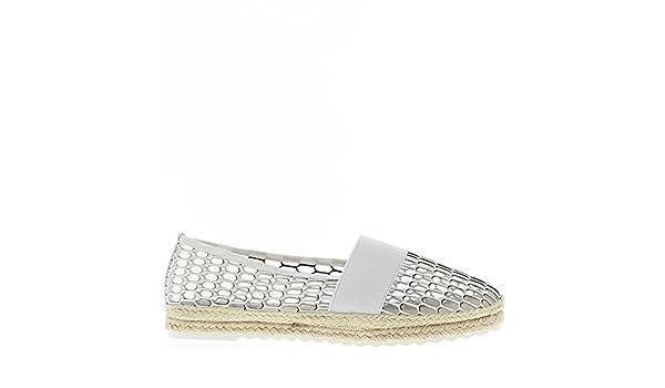 Zapatillas blancas de encaje y ceños fruncidos - 41 adeIvyLHbA