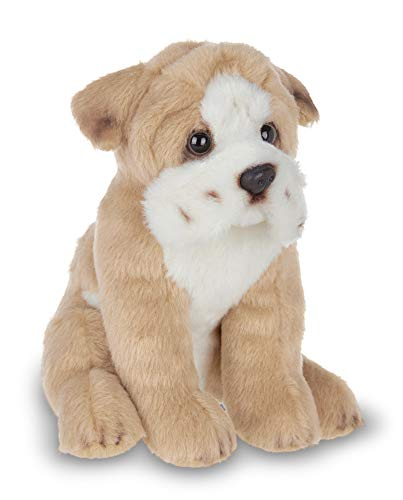 Bearington Lil' Tug Small Plush Bulldog Stuffed Animal Puppy Dog, 6.5 inches -