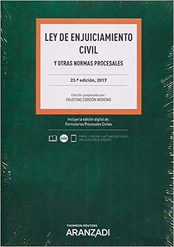 Ley De Enjuiciamiento Civil (papel + E-book): Y Otras Normas Procesales Descargar PDF Ahora