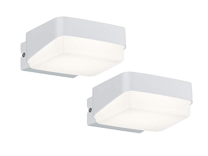 Lampade Da Parete Per Esterni : Juba set di 2 lampade da parete per esterni in alluminio