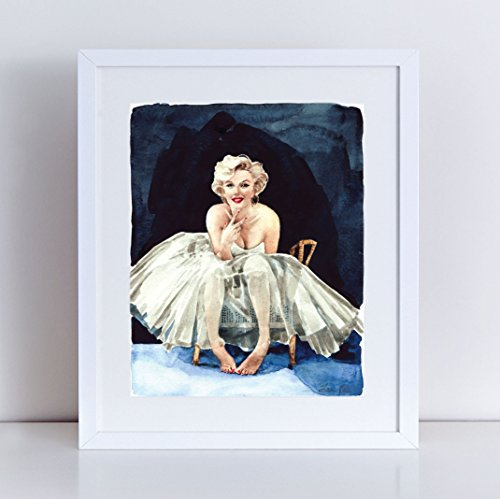 marilyn-monroe-art-print-portrait-of-a-lady-giclee-print-of-watercolor-painting-8-x-10-11-x-14-inche