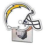 NFL San Diego Chargers 3NT3825DGlass Night Light, Los Angeles Chargers, Helmet, Blue