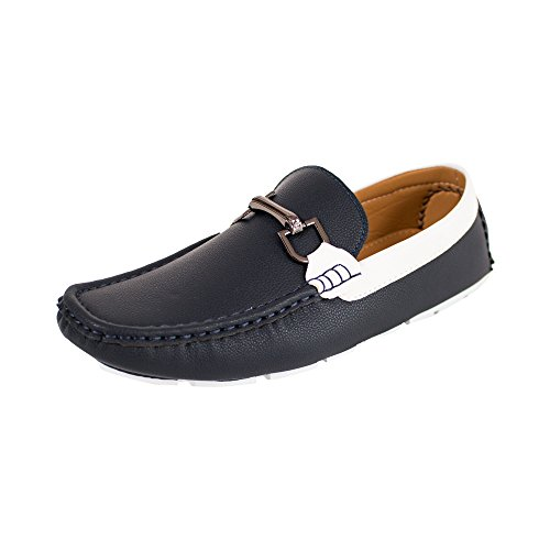 beverly st Mens Dress Shoes (RDS-42) Navy zt7JUx60z