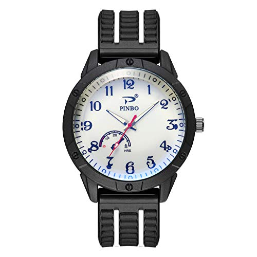 Mens Watches,Fxbar Unique Rubber Strap Analog Wrist Watch Fashion Youth Bracelet Watches Dress ()