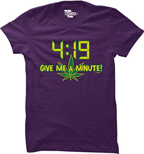 4:19 Give Me A Minute! Women's T-Shirt (Purple, Small)