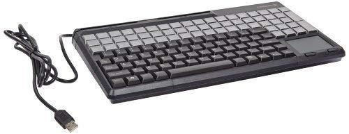 Cherry Electronics G86-71401EUADAA LPOS Keyboard with Touchpad, USB Interface, Qwerty US Key Layout, 17.4