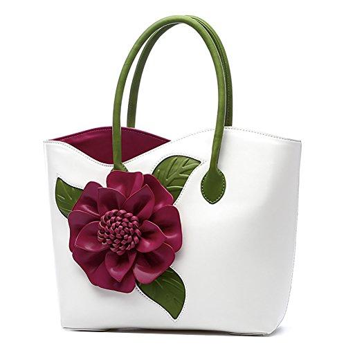 White QZUnique Vintage Bags Bags Handbags Messenger Handbag Top handle Chinese Style Flower TwEqPCTr