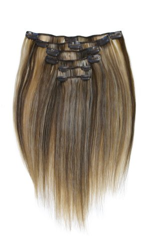 "Tressecret Six Piece 14"" Clip-in Human Hair Extension Kit, Light Ash Blonde Frost"