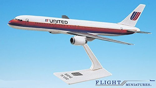 United (76-93) 757-200 Airplane Miniature Model Plastic Snap Fit 1:200 Part# ABO-75720H-012