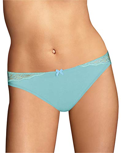 Maidenform Women's Comfort Devotion Bikini Panty, Amazing Aqua/Blue Spearmint, 6