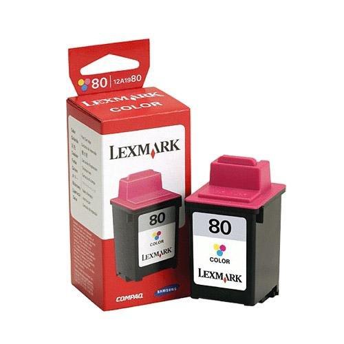 Lexmark 80 (12A1980) Tri-Color Remanufactured Inkjet/Ink Cartridge (12a1980 Cartridge Remanufactured Inkjet)