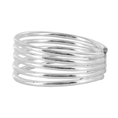 925 Sterling Silver Five Wire Design Toe Ring