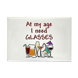 "CafePress - I need glasses Rectangle Magnet - Rectangle Magnet, 2""x3"" Refrigerator Magnet"