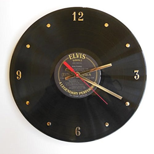 ELVIS PRESLEY Vinyl Record Clock (A Legendary Performer). 12