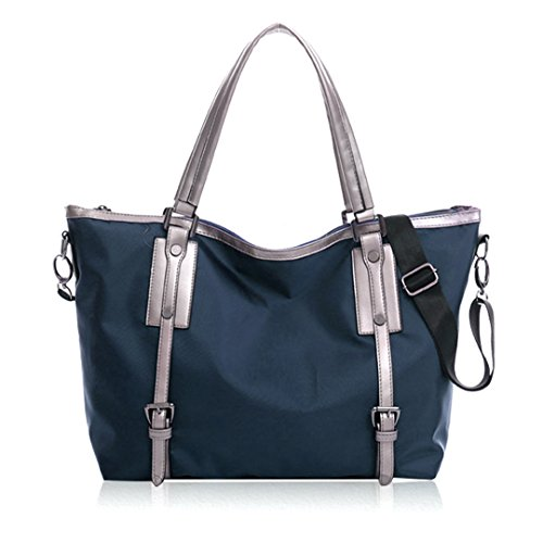 Shopping Work Red Bag Bag Casual Waterproof Shoulder Blue Nylon and School Bag Tote Handbags Womens Purse for Travel Ladies Wine Sports AiSi Deep Holiday 1qPxCwaznt