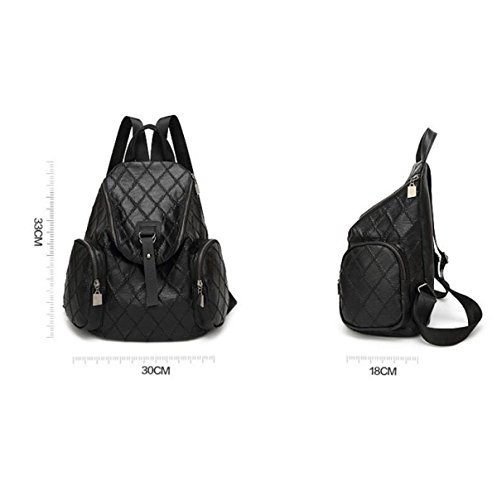 Backpack 2017 Wind Bag School Casual Personality Black College New Portable Korean nHd7xanO