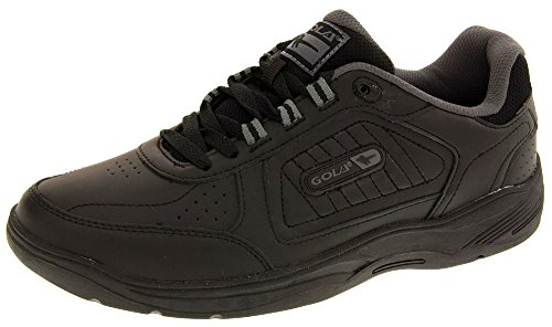 fake for sale Gola Mens Belmont AMA203 Real Leather Lace Up Sneakers Black Lace Up supply e9ioz00ew