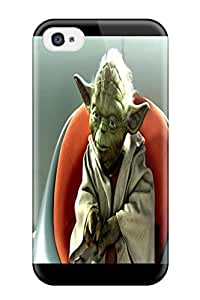 New Snap-on DanRobertse Skin Case Cover Compatible With Iphone 4/4s- Star Wars Attack Clones Akien Yoda
