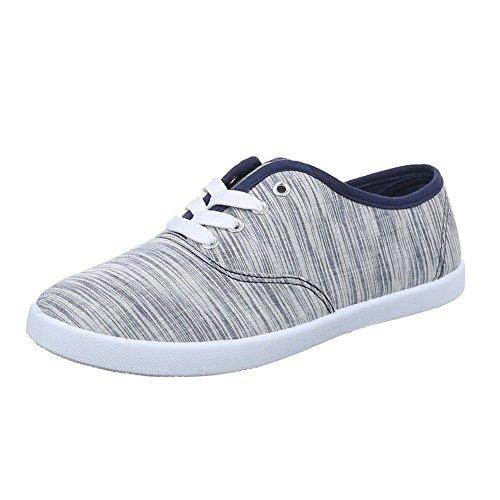 Ital-Design - zapatos de tiempo libre Mujer Azul - azul oscuro