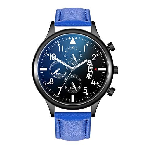 (Londony  Men's Fashion Minimalist Wrist Watch Analog Date with Stainless Steel Mesh/Leather Band Business Wrist Watch)