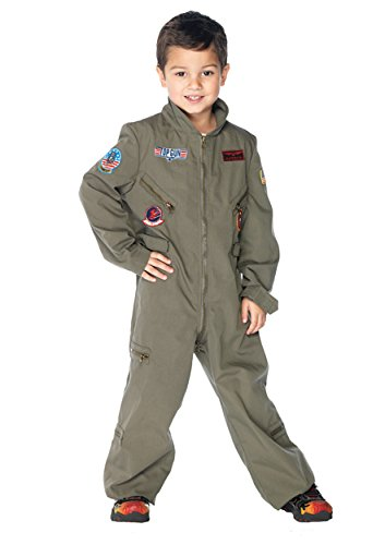 UHC Boy's Top Gun Flight Suit Fancy Dress Child Airforce Halloween Costume, Child S (4-6) - Top Gun Costume Baby
