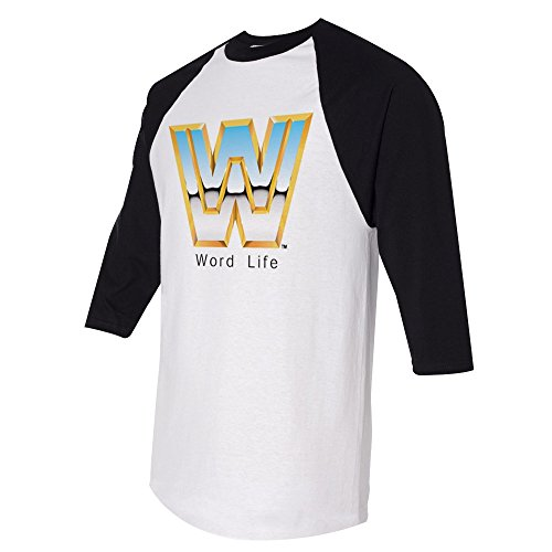 John Cena Word Life Half Sleeve Raglan WWE Authentic Mens T-shirt-XL by WWE Authentic Wear