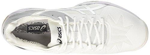 Speed Chaussures Blanc 3 De Asics Tennis Homme Gel white silver solution 6wqnZF