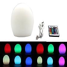 Glovion LED Portable Bedside Ambient Mood Lamp (18CM Egg)