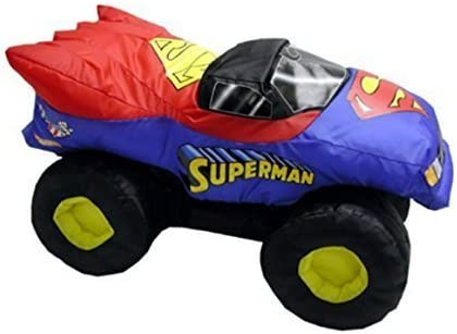 Amazon Com Feld Official Monster Jam Superman Puff Stuffed Toy Toys Games
