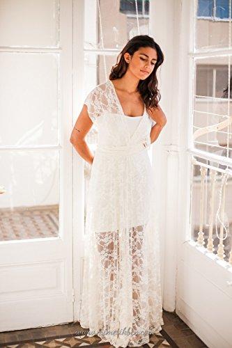 Wedding dress, Lace wedding dress separates, bride lace gown, marriage, boho wedding lace dresses, long lace dresses, accessory lace dress by Mimètik Bcn