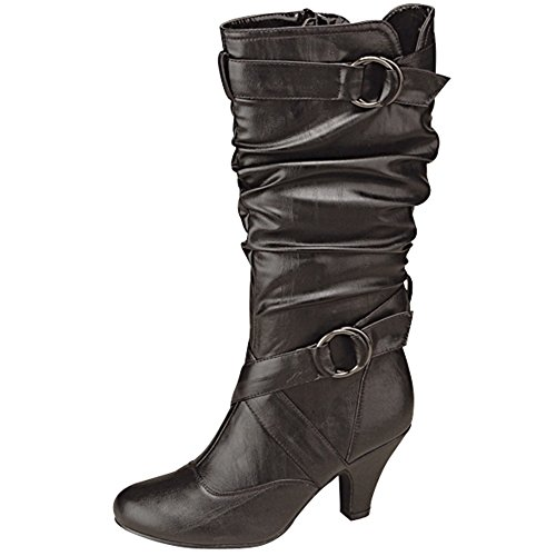 Moda Dress US 08 M Top Black Round Auto Women's B Boot 2 Toe 5 5 Y7wdn