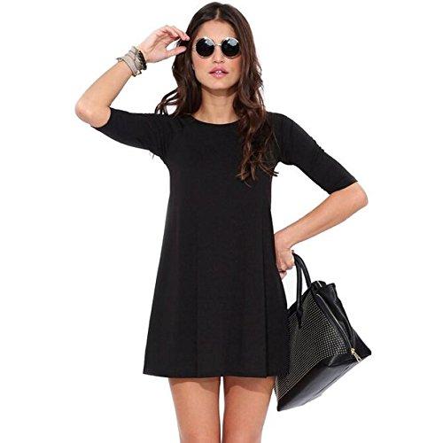 Adeby (TM) – primavera otoño vestidos 2015 vestido de las mujeres Plus tamaño XL