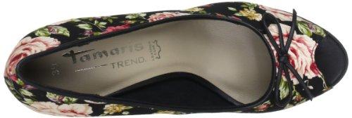 Tamaris Tamaris-TREND 1-1-29308-20 - Peep Toes de terciopelo para mujer Multicolor (Mehrfarbig (BLACK COMB 098))