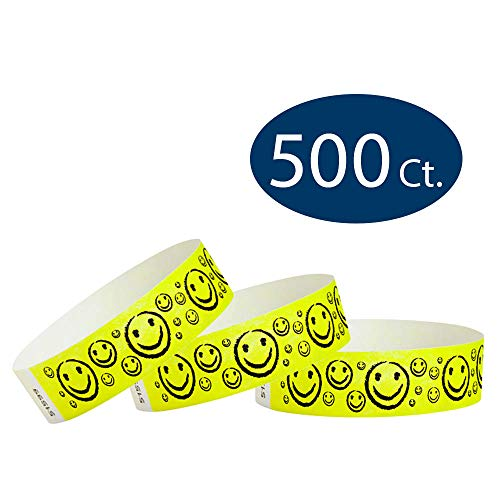 (WristCo Yellow Smiley Face 3/4