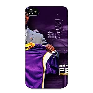 Crooningrose Durable Defender Case For Iphone 4/4s Tpu Cover(nfl Adrian Peterson Viking) Best Gift Choice