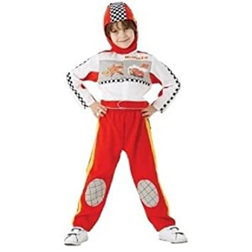 Cars - Disfraz de mono de carreras para niño, talla M (5-6 años ...