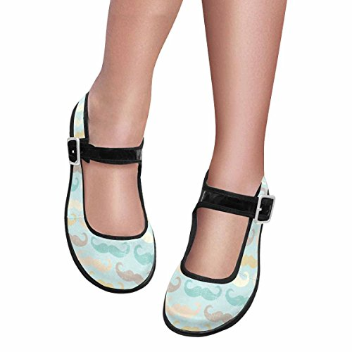 Interestprint Femmes Confort Mary Jane Appartements Casual Chaussures De Marche Multi 9
