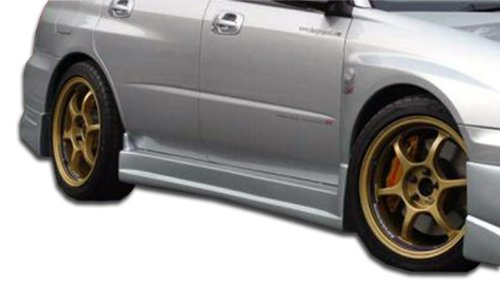 (Duraflex ED-FAX-167 C-Speed Side Skirts Rocker Panels - 2 Piece Body Kit - Compatible For Subaru Impreza 2002-2007 )