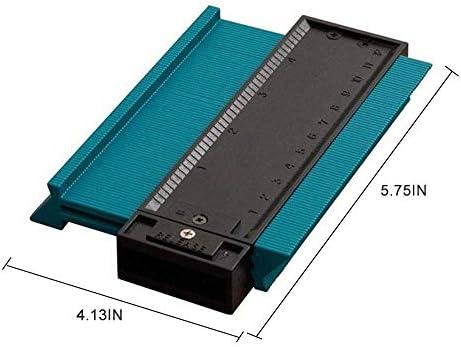 プロフィールの輪郭のゲージ、120mm/4.7 インチ不規則な輪郭の測定のゲージの深い飾るテンプレートタイリング幅木の積層のプロフィールの木製の形の青,1pcs