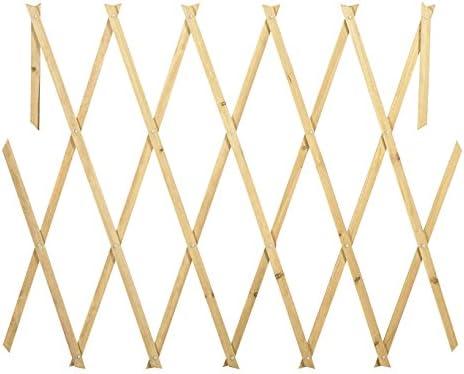 434013 Rejilla de madera extensible Welkhome 150x30 cm para las ...