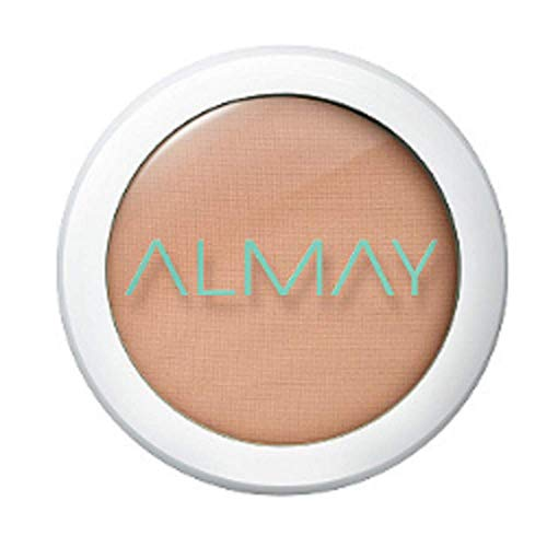 Almay Clear Complexion Pressed Powder, Medium, 300, Hypoallergenic, Dermatologist-tested, Non-Comedogenic (Won't Clog Pores), 0.28 oz.