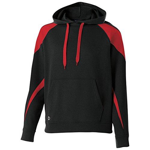 Fashion Color Hooded Fleece - Men's Prospect Hoodie Holloway Sportswear M Black/Scarlet
